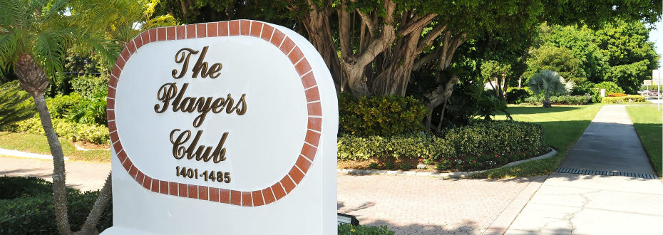 The Players Club sign